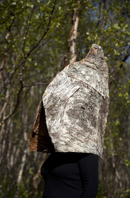 trolltind-birch-bark-hat-caroline-dear-exhibition-norway-skye